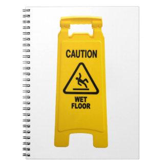 Caution Wet Floor Notebook