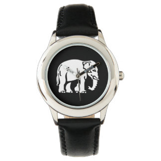 Caution White Elephant Crossing ⚠ Thai Road Sign ⚠ Wristwatch