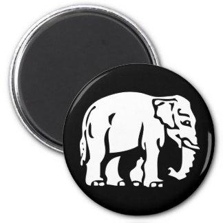 Caution White Elephant ⚠ Thai Road Sign ⚠ Refrigerator Magnet
