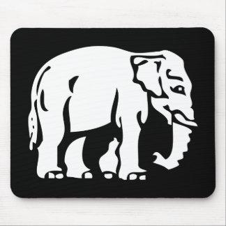 Caution White Elephant ⚠ Thai Road Sign ⚠ Mousepad