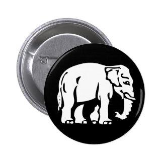 Caution White Elephant ⚠ Thai Sign ⚠ Button