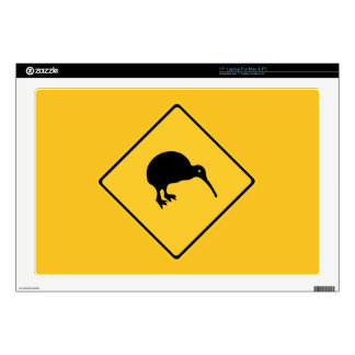 Caution With Kiwis, Traffic Sign, New Zealand Skins For Laptops