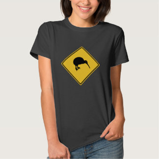 Caution With Kiwis, Traffic Sign, New Zealand T-shirt