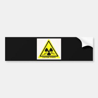 Caution Xrays Bumper Sticker