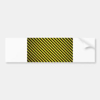 caution yellow black stripes under construction bumper sticker