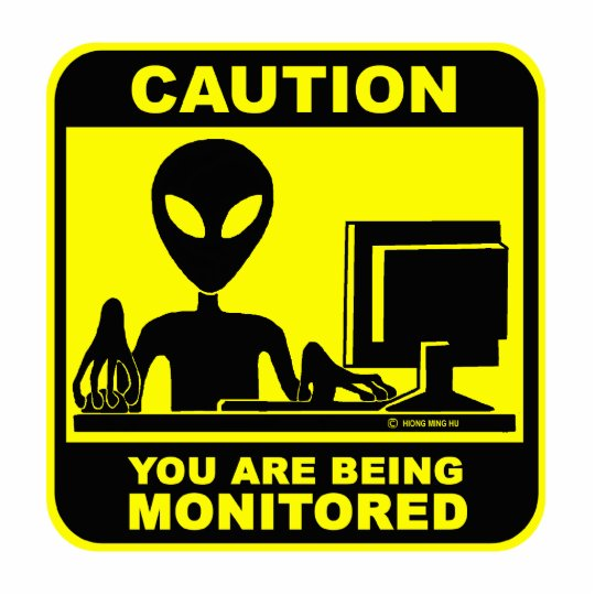 Caution! you are being monitored cutout