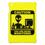 Caution! you are being monitored cover for the iPad mini