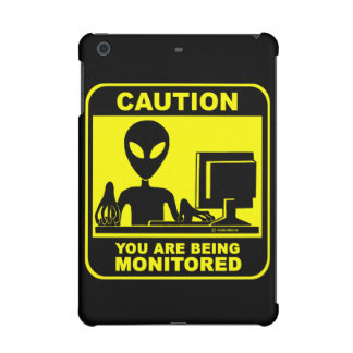 Caution! you are being monitored iPad mini cover