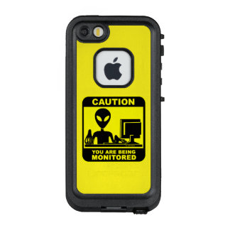 Caution! you are being monitored LifeProof FRĒ iPhone SE/5/5s case