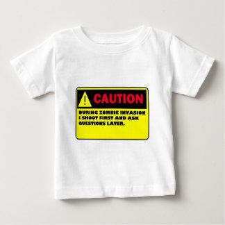 CAUTION ZOMBIE INVASION BABY T-Shirt