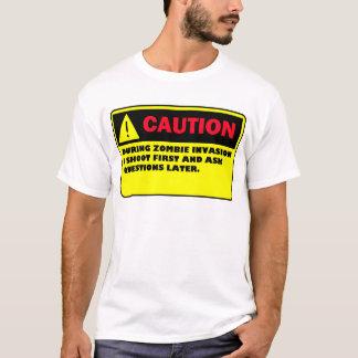 CAUTION ZOMBIE INVASION T-Shirt