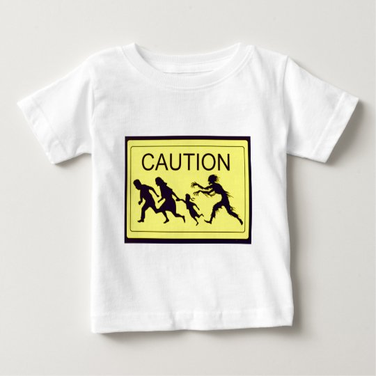 Caution Zombies Baby T-Shirt
