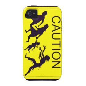 Caution Zombies Case-Mate iPhone 4 Cover