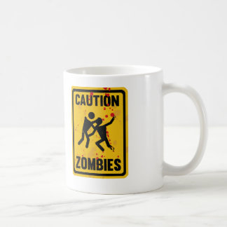 Caution Zombies Coffee Mugs