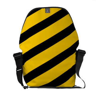 Caution Zone Stripes Safety Courier Messenger Bag