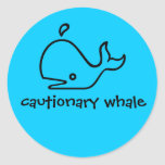 cautionary whale stickers
