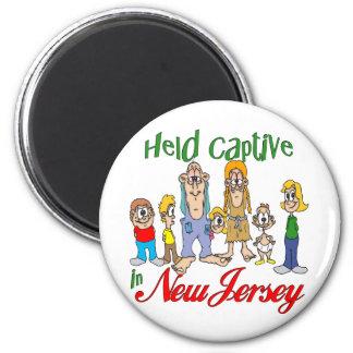 Cautivo detenido en New Jersey Imán Redondo 5 Cm