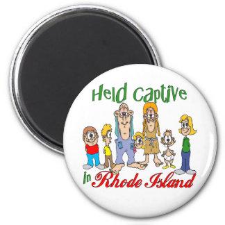 Cautivo detenido en Rhode Island Imán Redondo 5 Cm