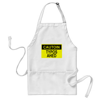 Cautoin: Typos Ahed Adult Apron