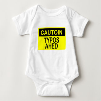 Cautoin: Typos Ahed Baby Bodysuit