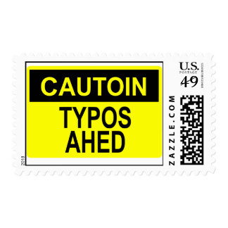 Cautoin: Typos Ahed Postage