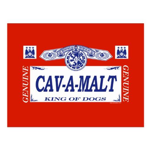 Cav-A-Malt Postcard