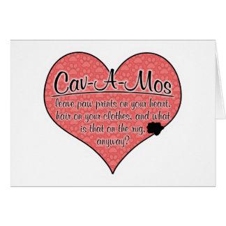 Cav-A-Mo Paw Prints Dog Humor Card