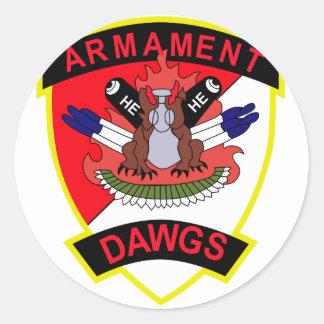 cav d 3 6 air cav armament dawgs classic round sticker