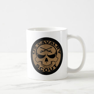Cav Scout Skull Black and Gold Coffee Mug
