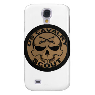 Cav Scout Skull Black and Gold Samsung S4 Case