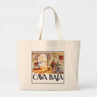 Cava Baja, Madrid Street Sign Large Tote Bag
