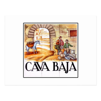 Cava Baja, Madrid Street Sign Postcard