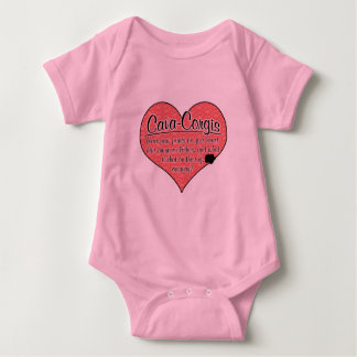 Cava-Corgi Paw Prints Dog Humor Baby Bodysuit