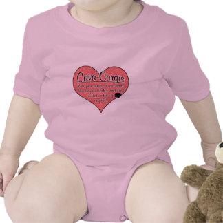 Cava-Corgi Paw Prints Dog Humor T-shirt