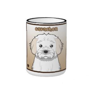 Cavachon Cartoon Ringer Coffee Mug