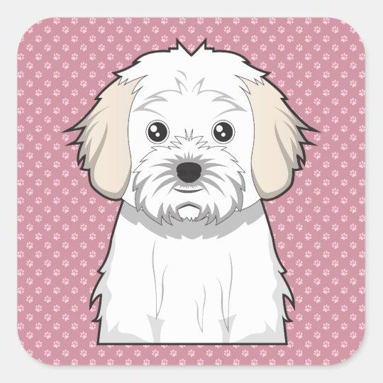 Cavachon Cartoon Square Sticker
