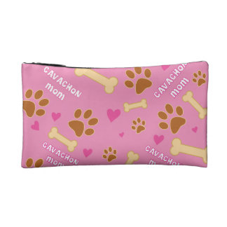Cavachon Dog Breed Mom Gift Idea Cosmetic Bag