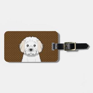 Cavachon Dog Cartoon Paws Bag Tag