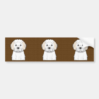 Cavachon Dog Cartoon Paws Bumper Stickers