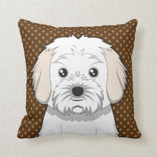 Cavachon Dog Cartoon Paws Throw Pillow