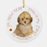 Cavachon Puppy First Christmas Christmas Tree Ornament