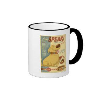 ¡Cavado - puedo hablar! - Cuello de perro de Muntz Taza De Dos Colores