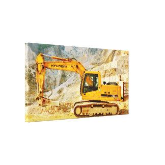 Cavador de mármol de la mina de Cararra, impresión Lona Estirada Galerías