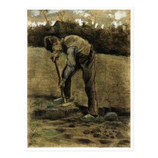 Cavador, Vincent van Gogh Postal