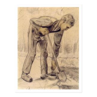 Cavador, Vincent van Gogh Postales