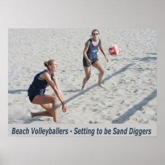 Cavadores de la arena póster