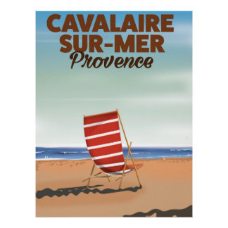 Cavalaire-sur-Mer Provence beach travel poster