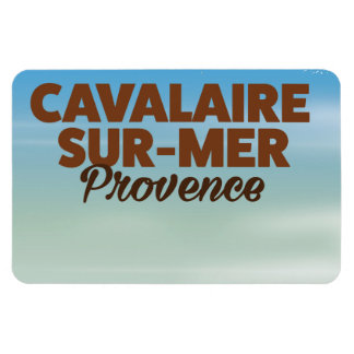 Cavalaire-sur-Mer Provence beach travel poster Magnet