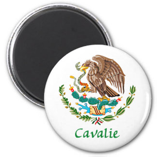 Cavalie Mexican National Seal 2 Inch Round Magnet