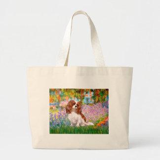 Cavalier 2 (Bl) - Garden (M) Large Tote Bag